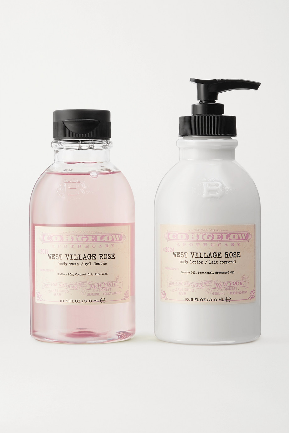 C.O. Bigelow Gel douche et lait corporel Iconic Collection, West Village Rose