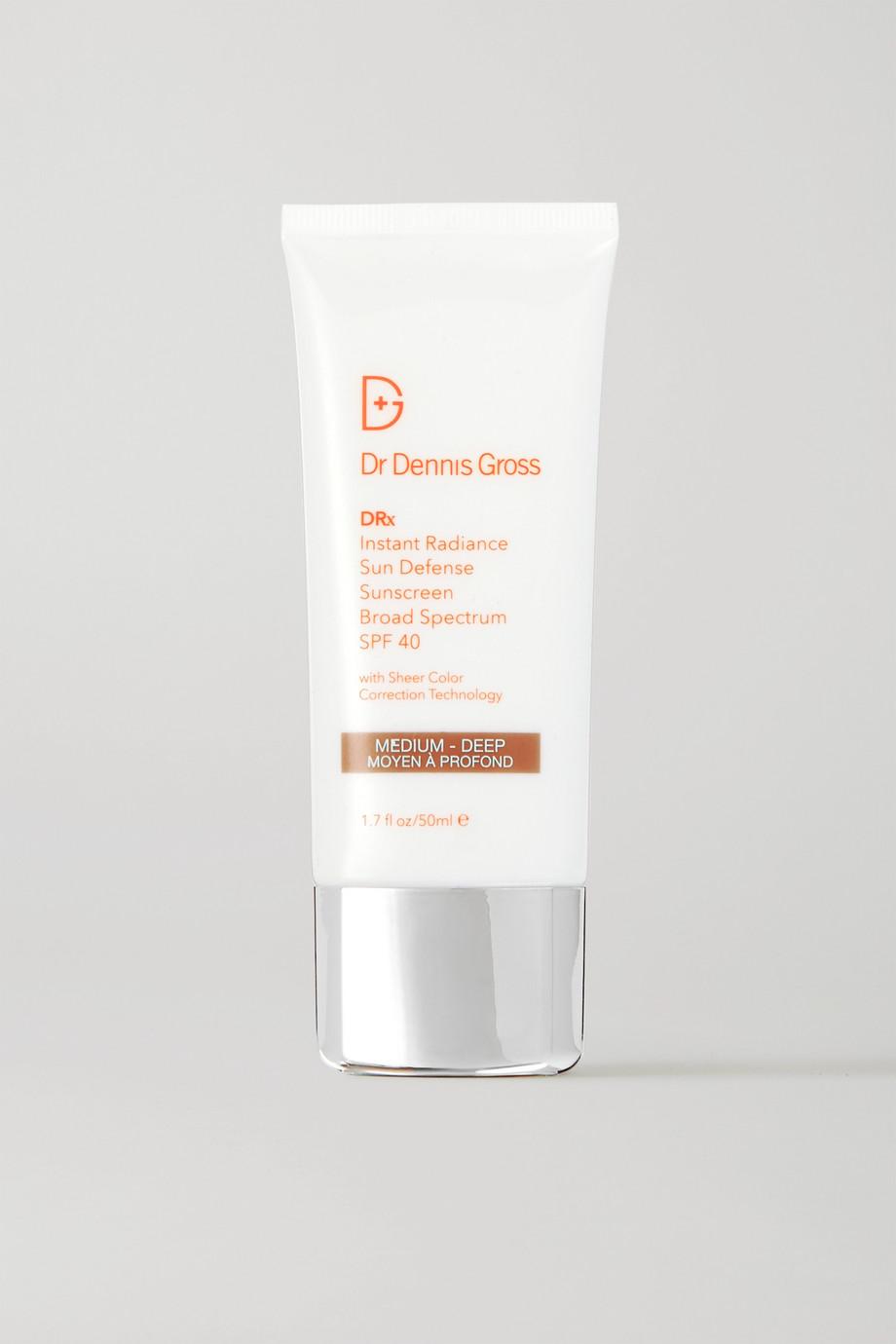 Dr. Dennis Gross Skincare Instant Radiance Sun Defense SPF40 - Medium/Deep, 50ml