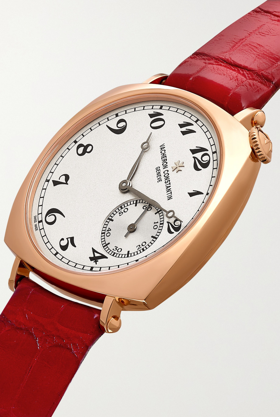 Vacheron Constantin Historiques American 1921 Hand-Wound 36.5mm 18-karat pink gold and alligator watch