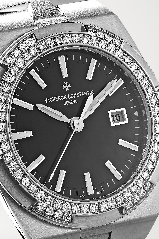 Vacheron Constantin Overseas 33mm stainless steel and diamond watch