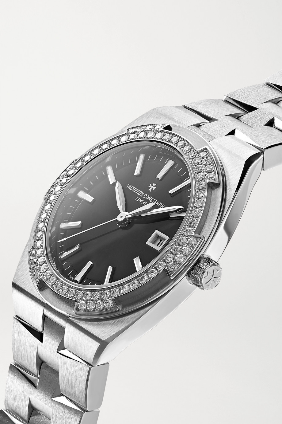 Vacheron Constantin Overseas 33mm stainless steel and diamond watch
