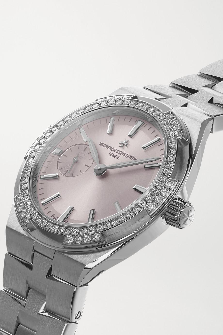 Vacheron Constantin Overseas Automatic 37mm stainless steel and diamond watch