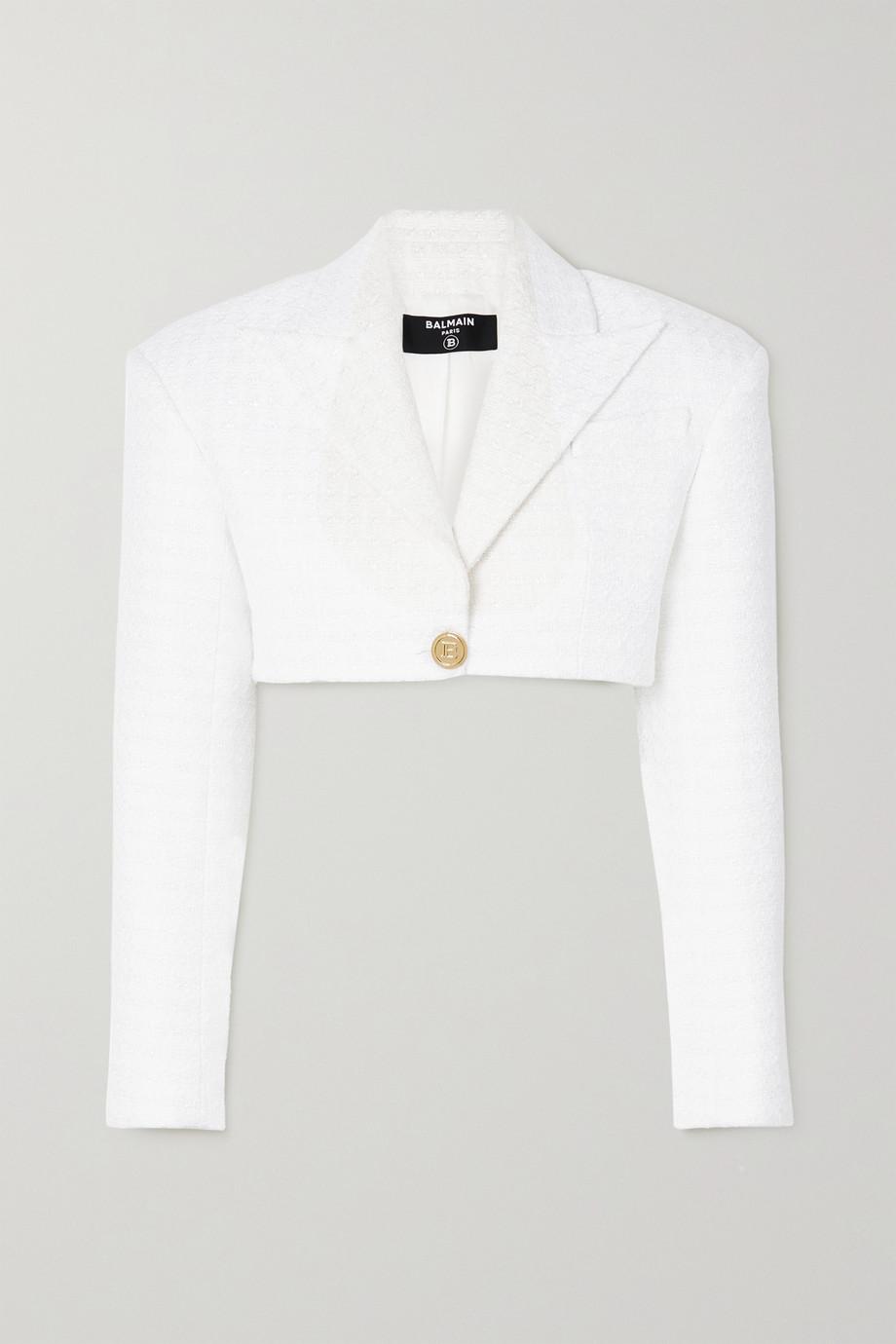 Balmain Cropped tweed blazer