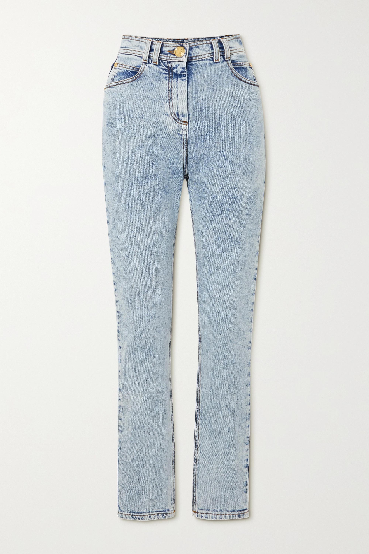 Balmain Acid-wash high-rise skinny jeans