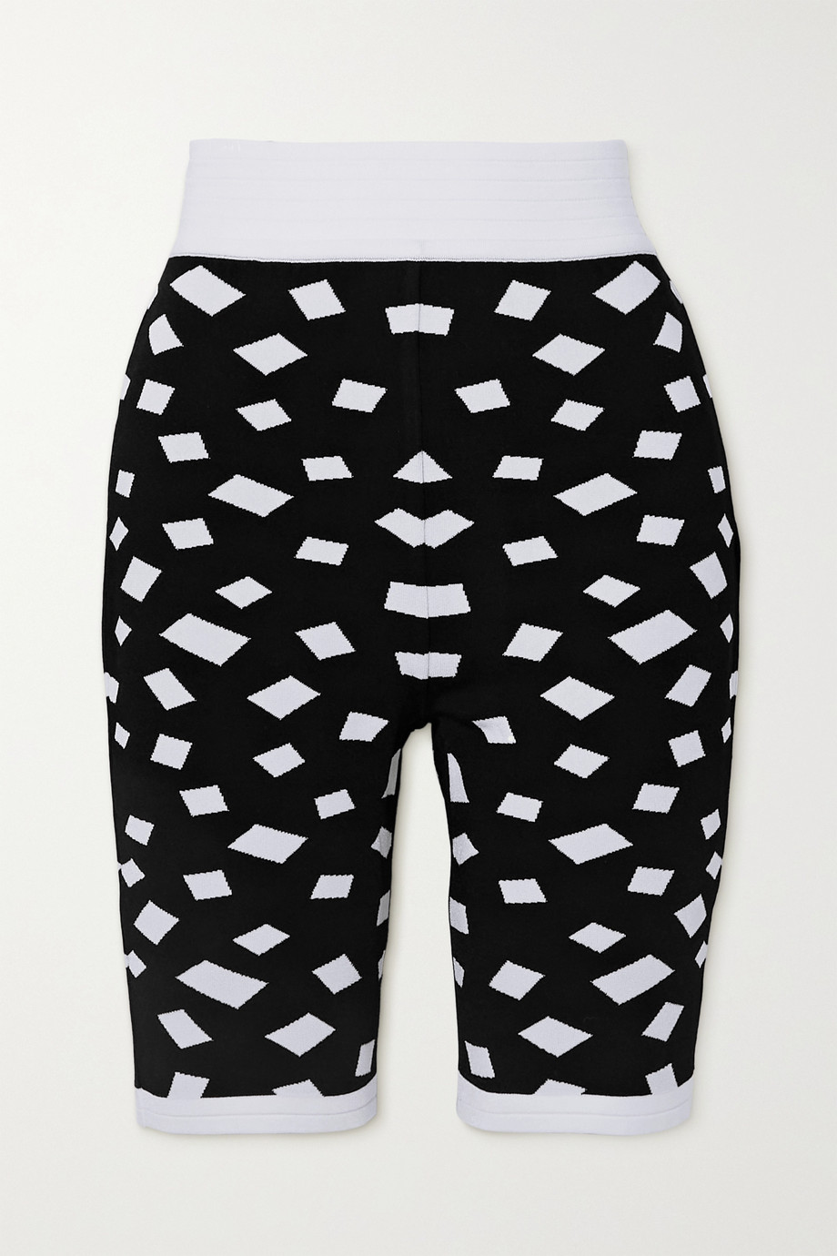 Balmain Shorts aus Jacquard-Strick
