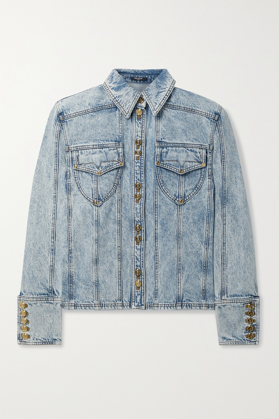 Balmain Acid-wash denim jacket