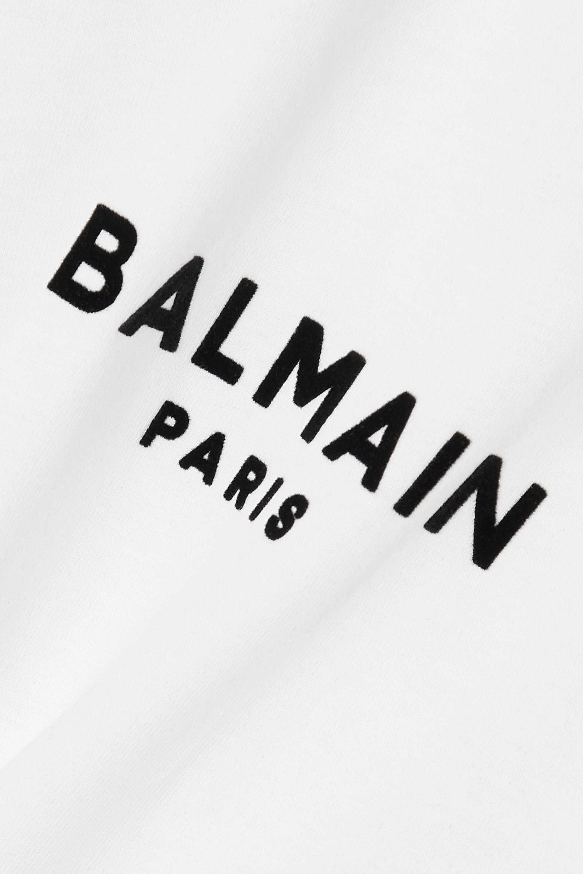 Balmain T-Shirt aus Baumwoll-Jersey mit Flockdruck
