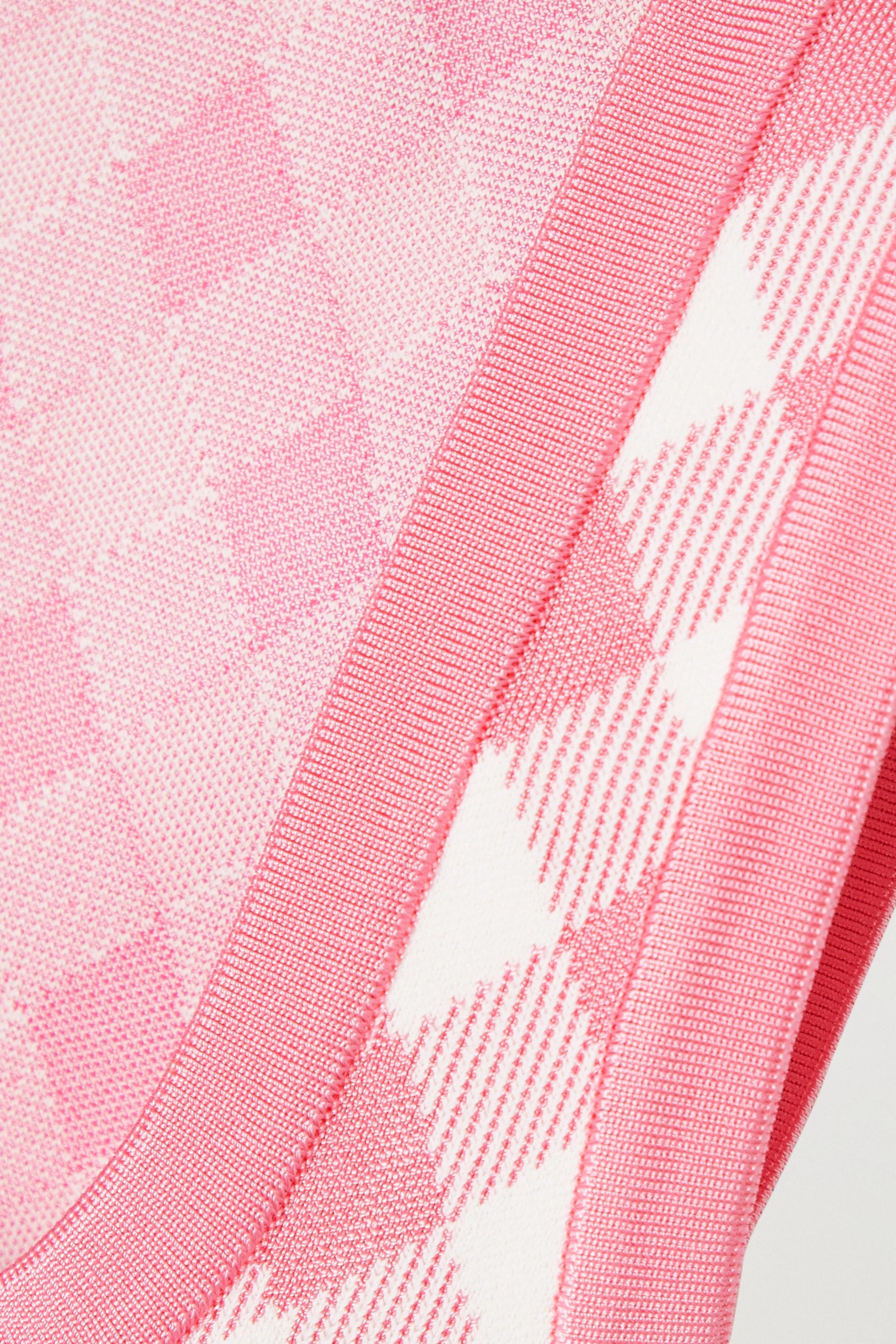 Balmain Cropped gingham jacquard-knit top