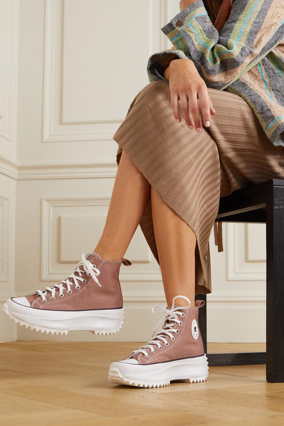Converse Run Star Hike canvas platform high-top sneakers