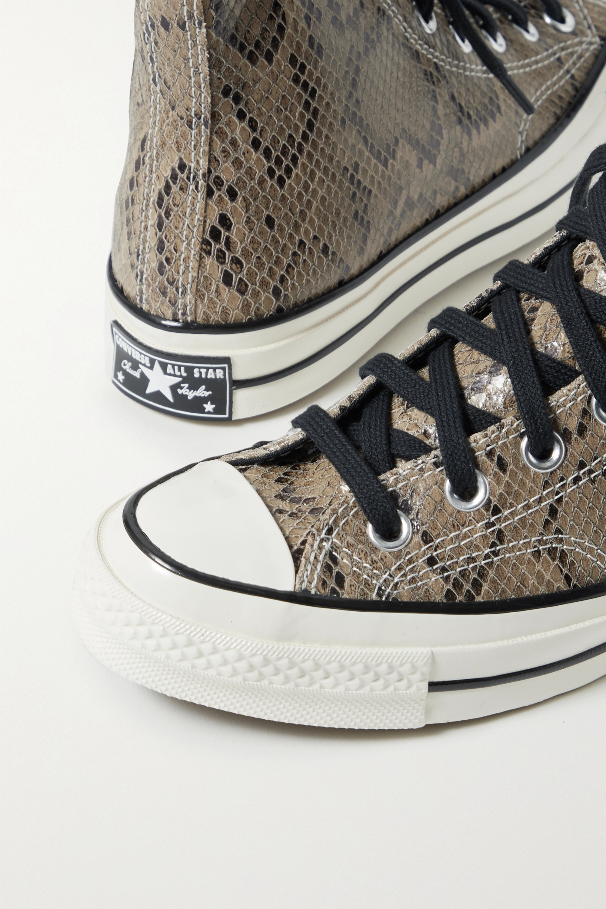 Converse Chuck Taylor All Star 70 snake-effect leather high-top sneakers