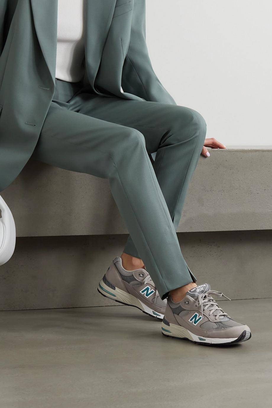 New Balance Baskets en nubuck, résille et cuir 991