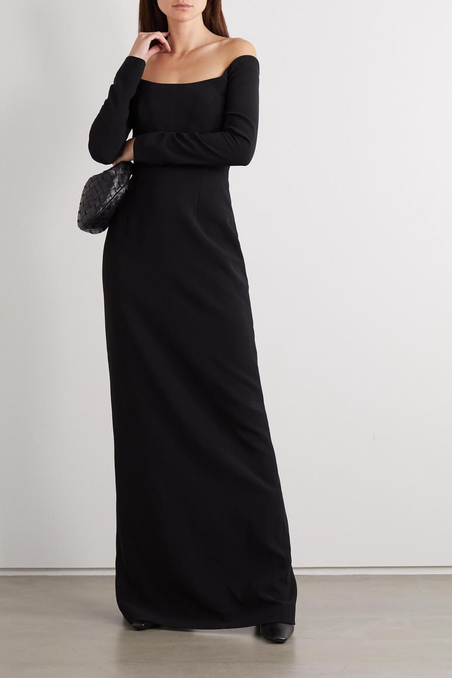 Carolina Herrera Robe du soir épaules nues en crêpe