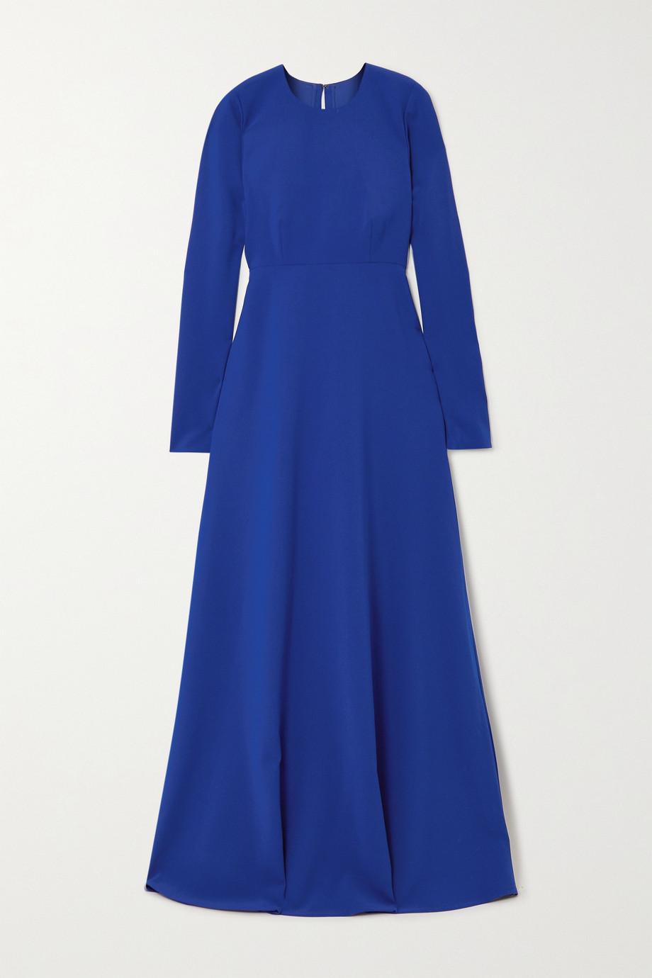 Carolina Herrera Open-back stretch-crepe gown