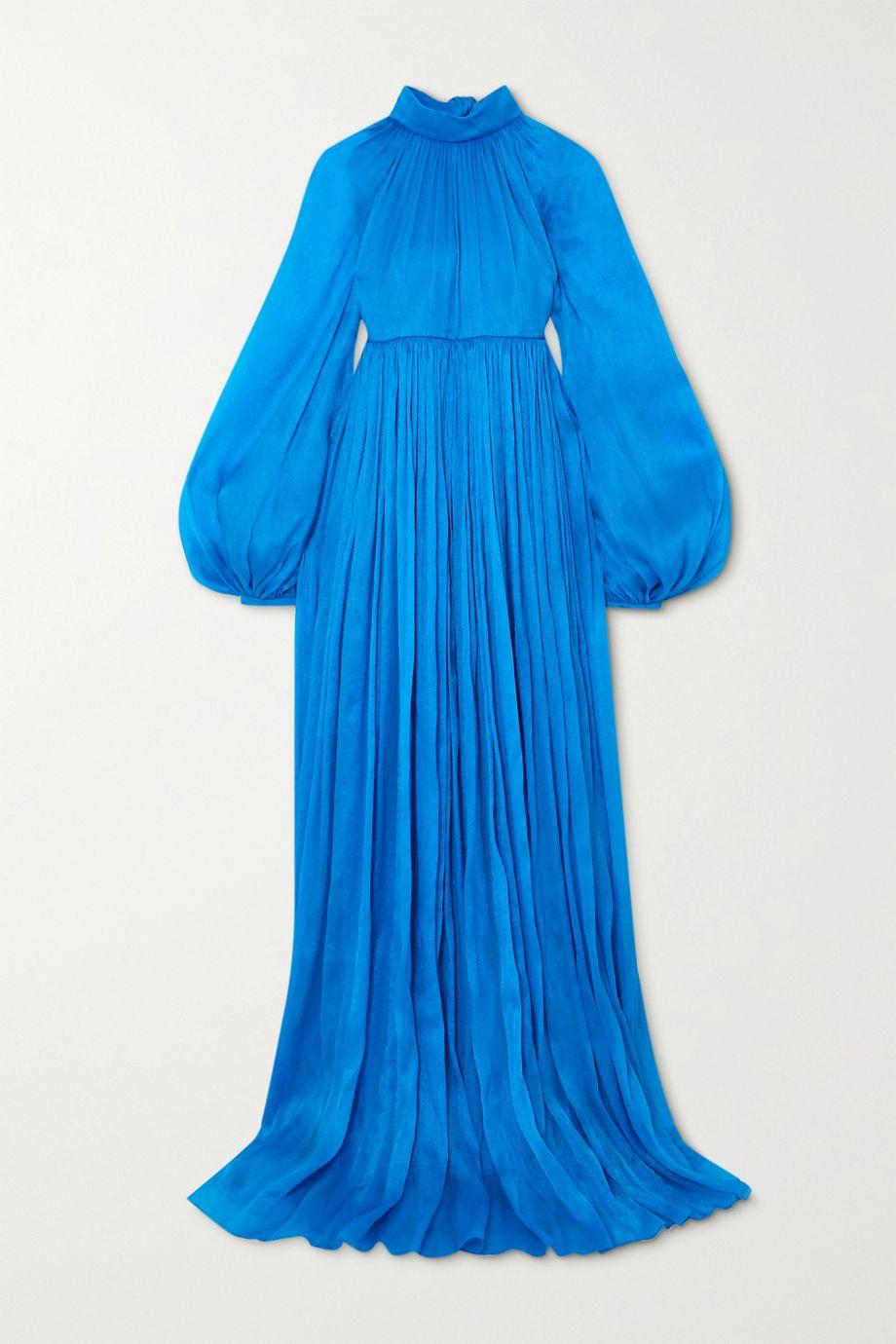 Carolina Herrera Pleated crepe de chine gown
