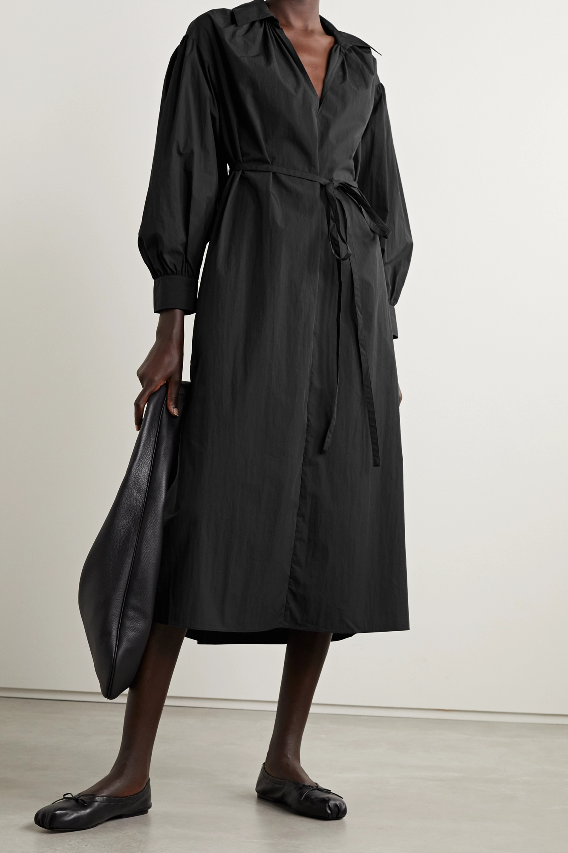 Co Belted cotton-blend poplin midi dress