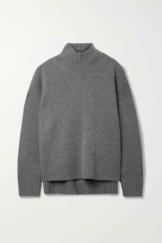 Co Pull à col montant en laine et cachemire mélangés
