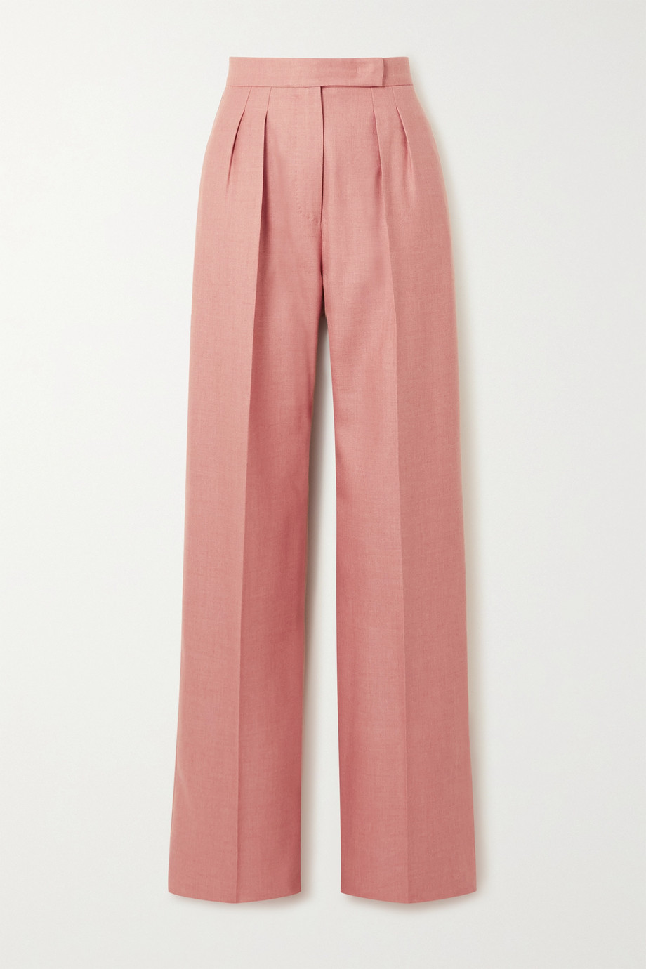 Max Mara Josef pleated camel hair and silk-blend twill wide-leg pants