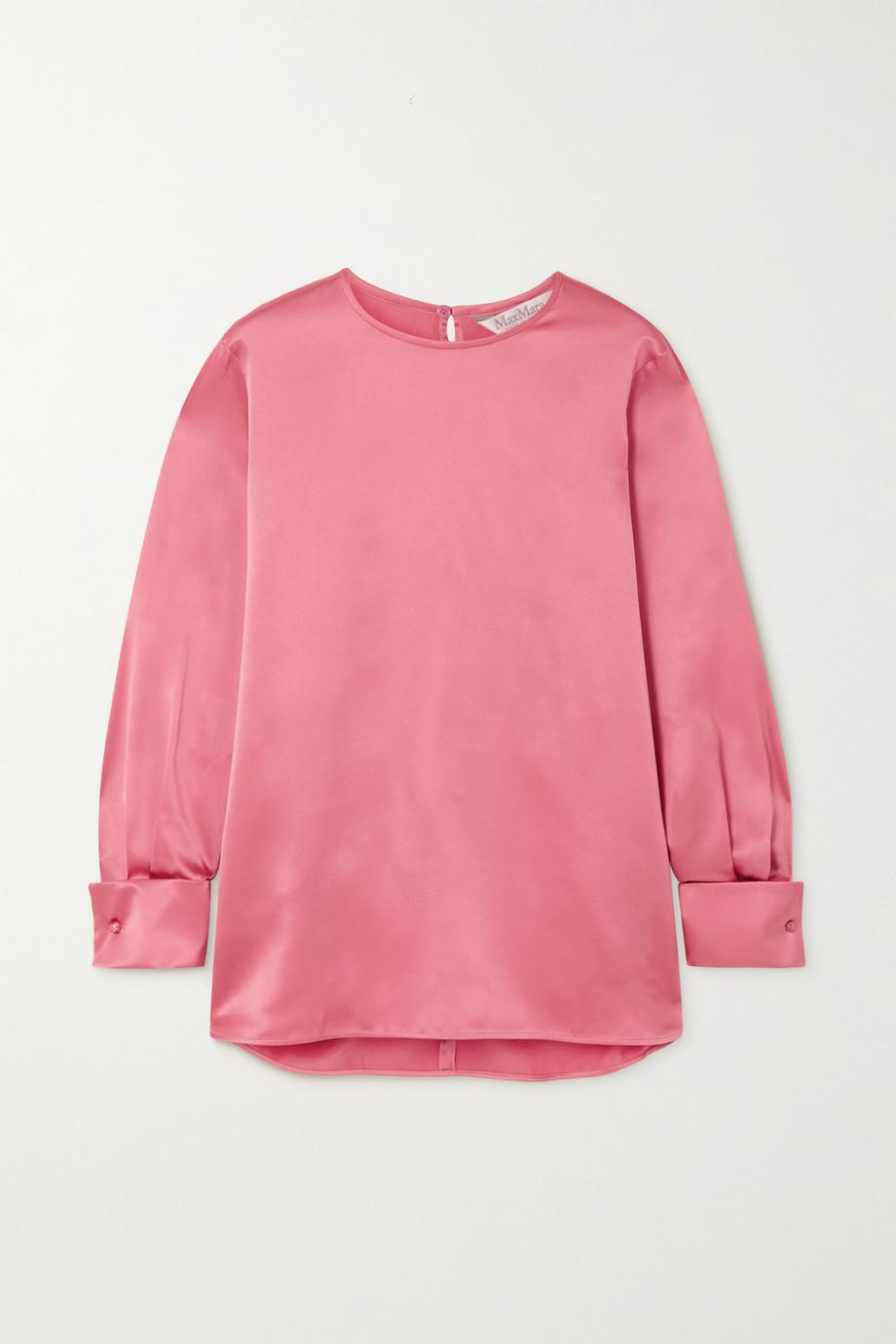 Max Mara Sava washed silk-satin blouse