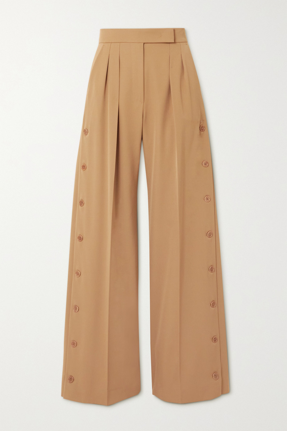 Max Mara Kirsch pleated wool-gabardine wide-leg pants
