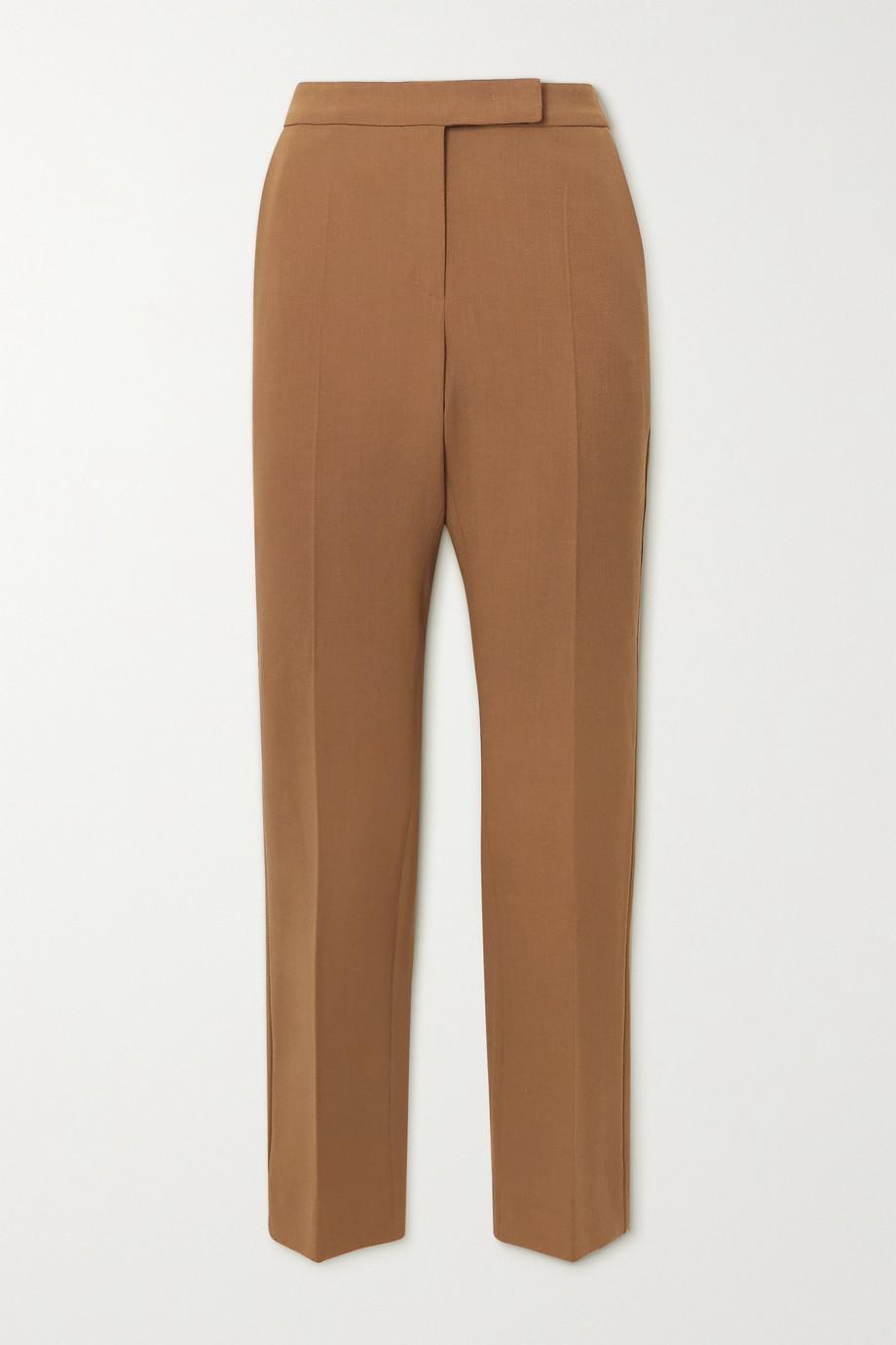Max Mara Micenea wool-blend crepe straight-leg pants