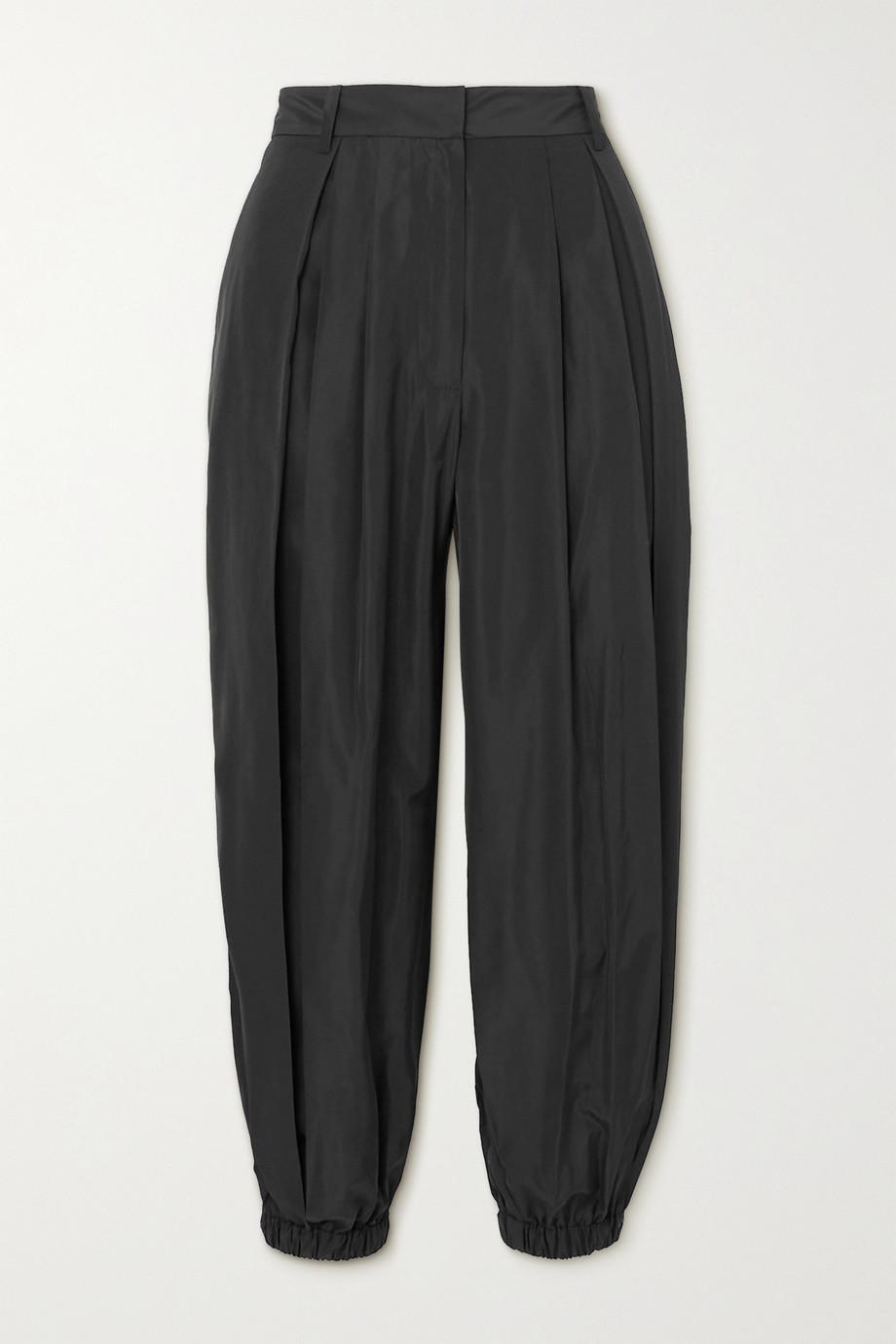 Tibi Pleated taffeta pants