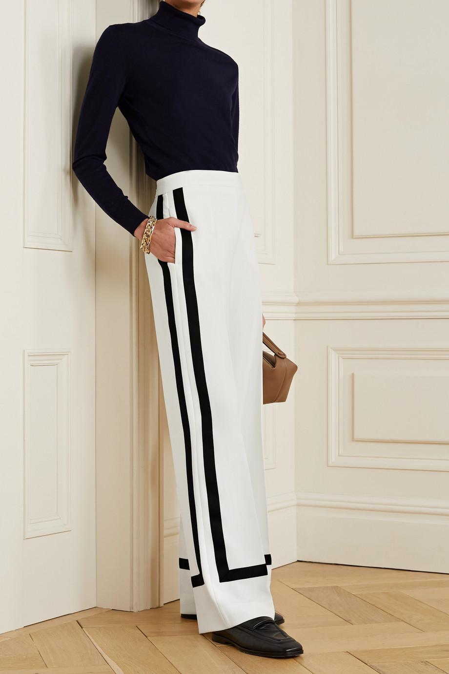 Max Mara Cuneo striped cady wide-leg pants