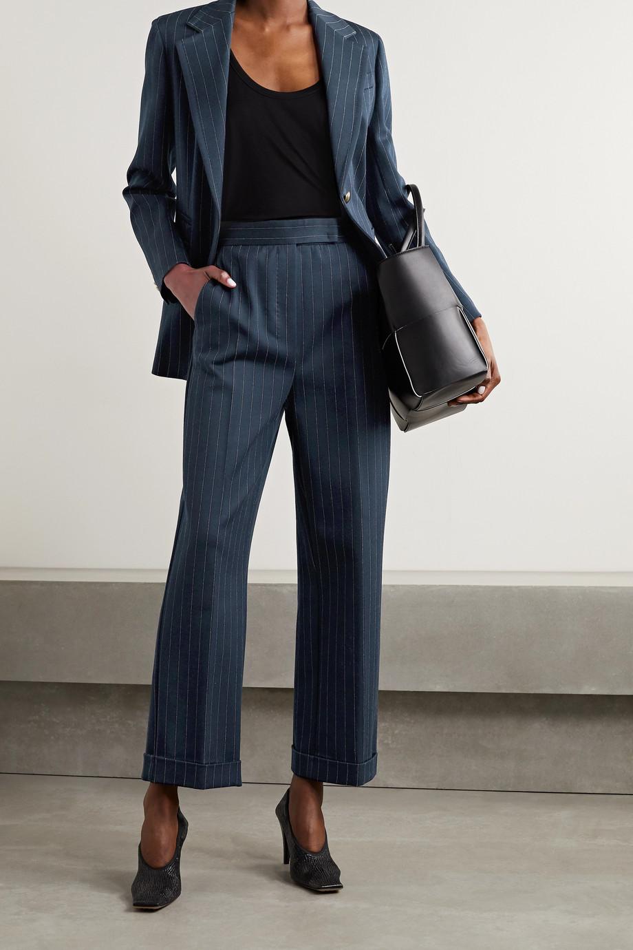 Max Mara Valdai pinstriped cotton-blend blazer