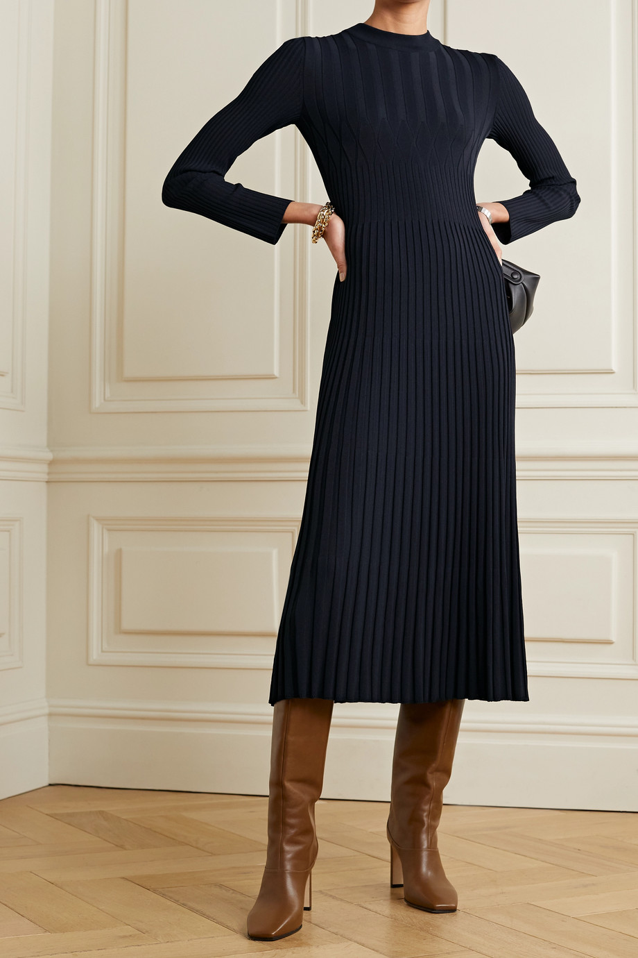 Max Mara Nausica ribbed-knit midi dress