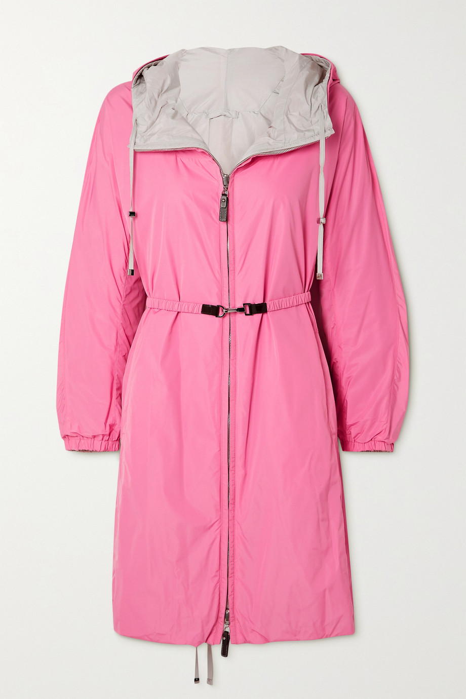 Max Mara The Cube Esporte reversible hooded belted shell jacket