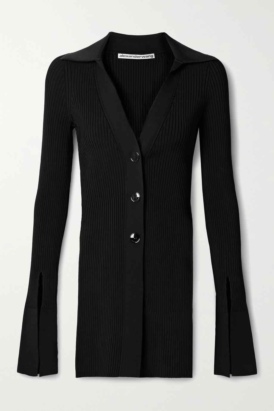 Alexander Wang Ribbed stretch-knit cardigan