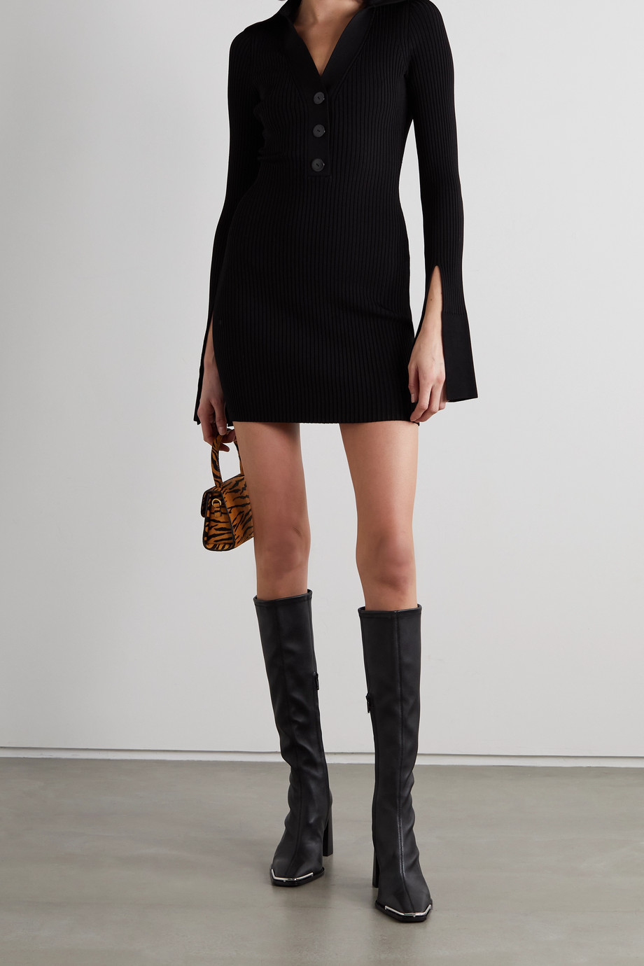 Alexander Wang Ribbed stretch-knit mini dress