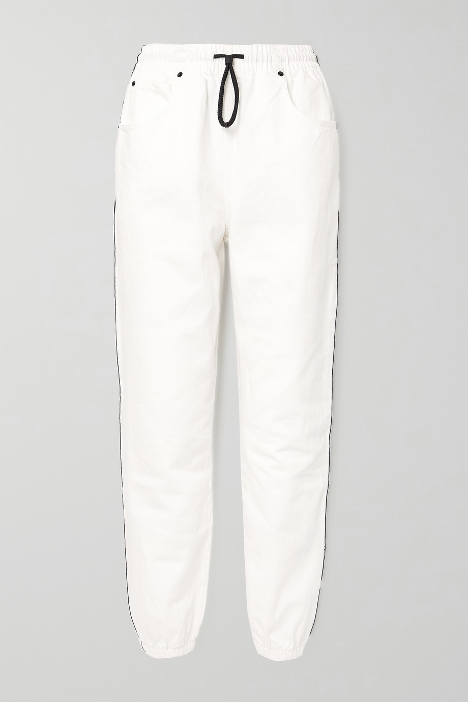 Alexander Wang Striped denim track pants