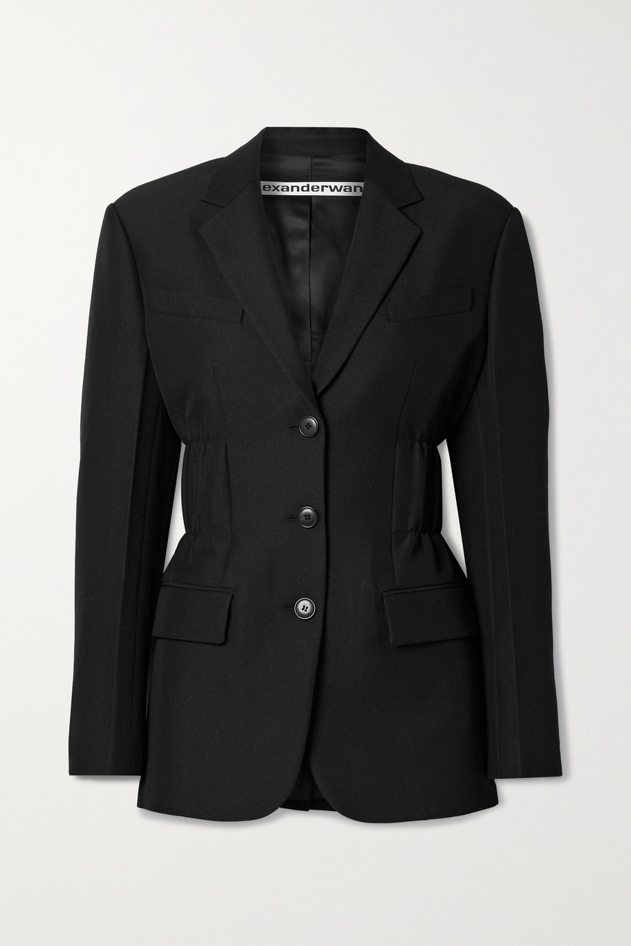 Alexander Wang Ruched wool-blend twill blazer