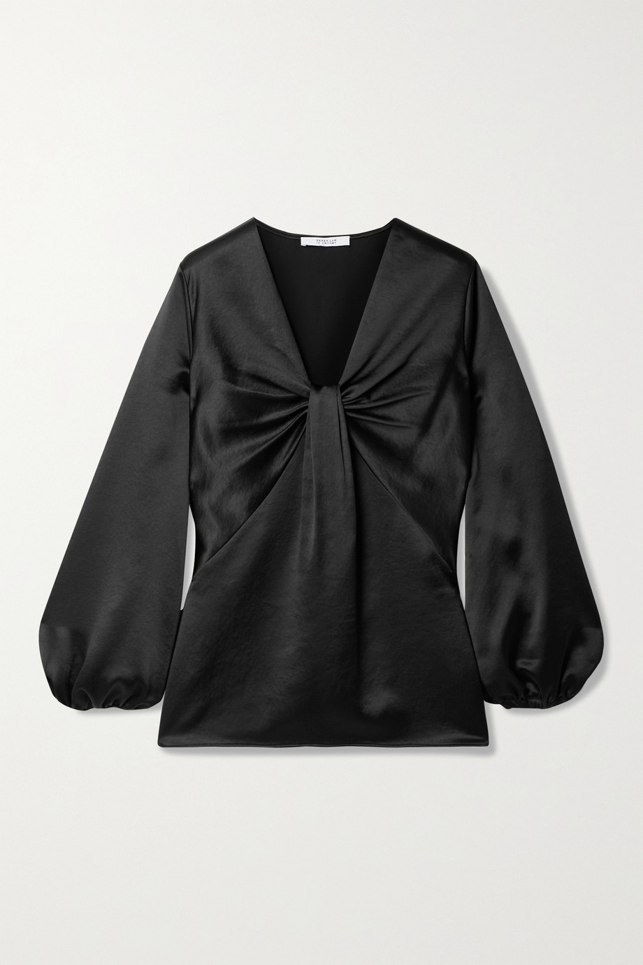 Derek Lam 10 Crosby Cailyn draped hammered-satin blouse