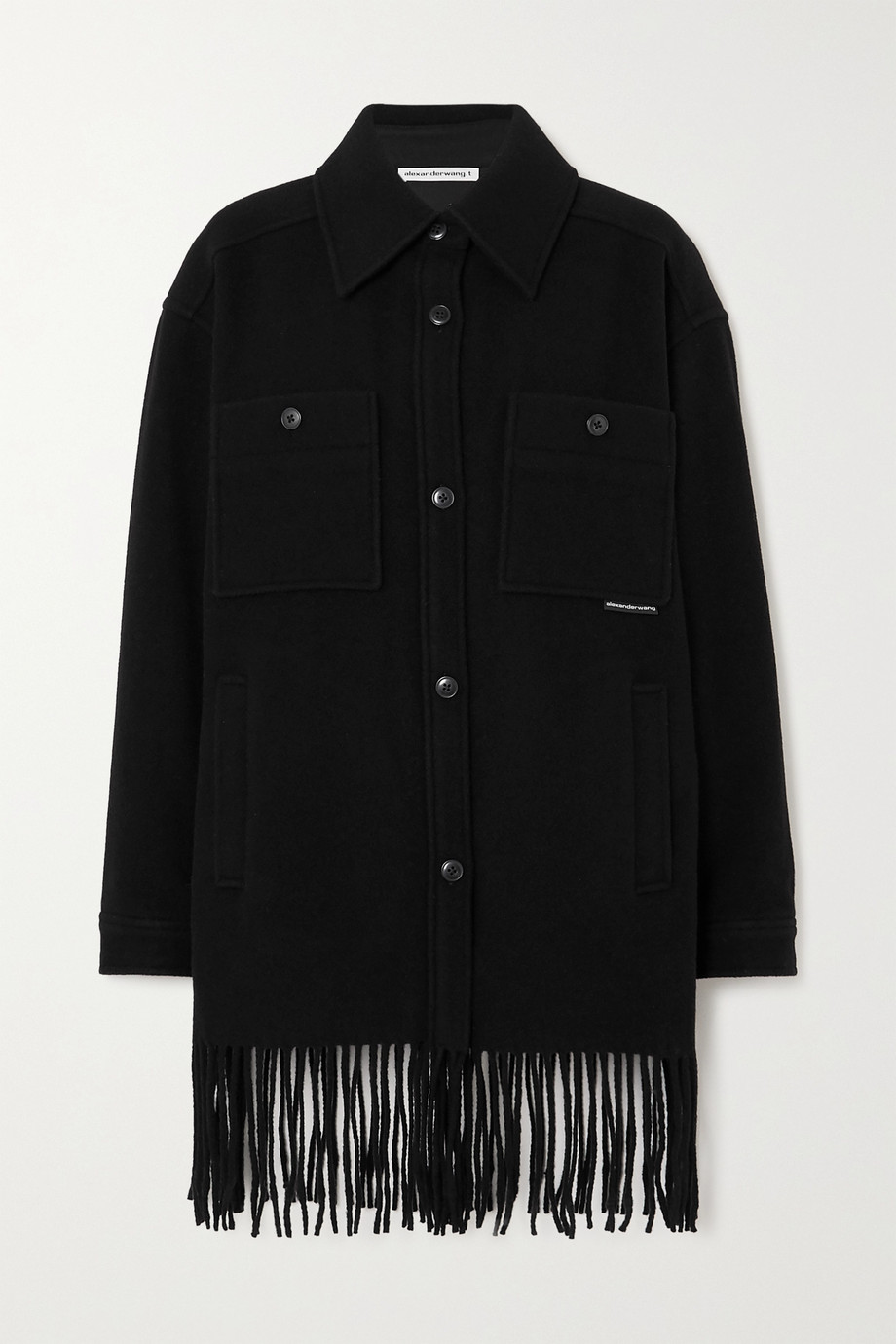 alexanderwang.t Oversized-Mantel aus Wollfilz mit Fransen