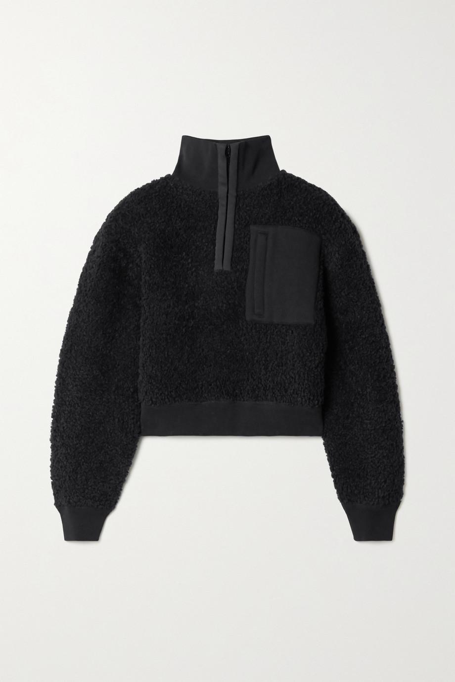 alexanderwang.t Oversized wool-blend fleece sweatshirt