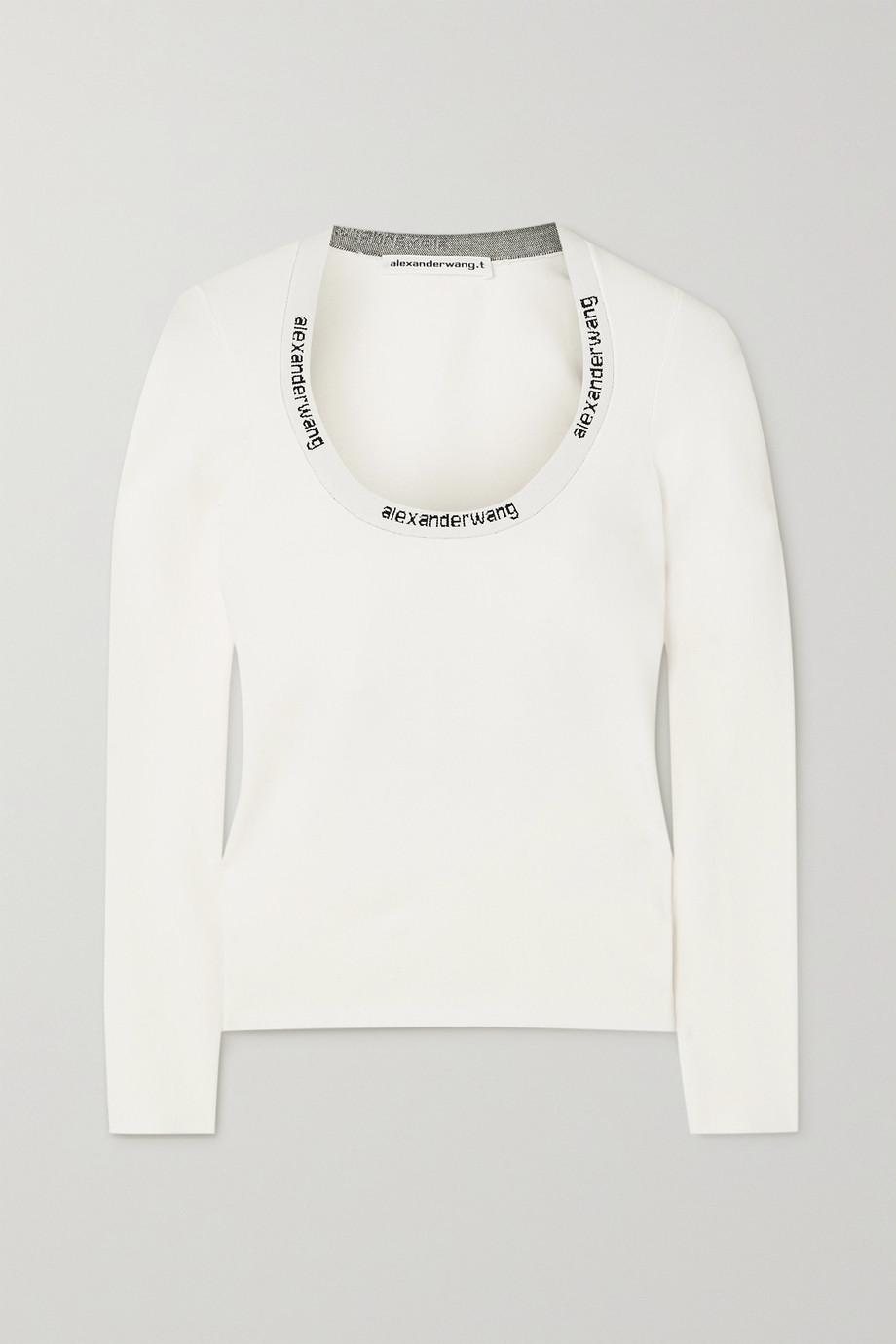 alexanderwang.t Intarsia stretch-knit top