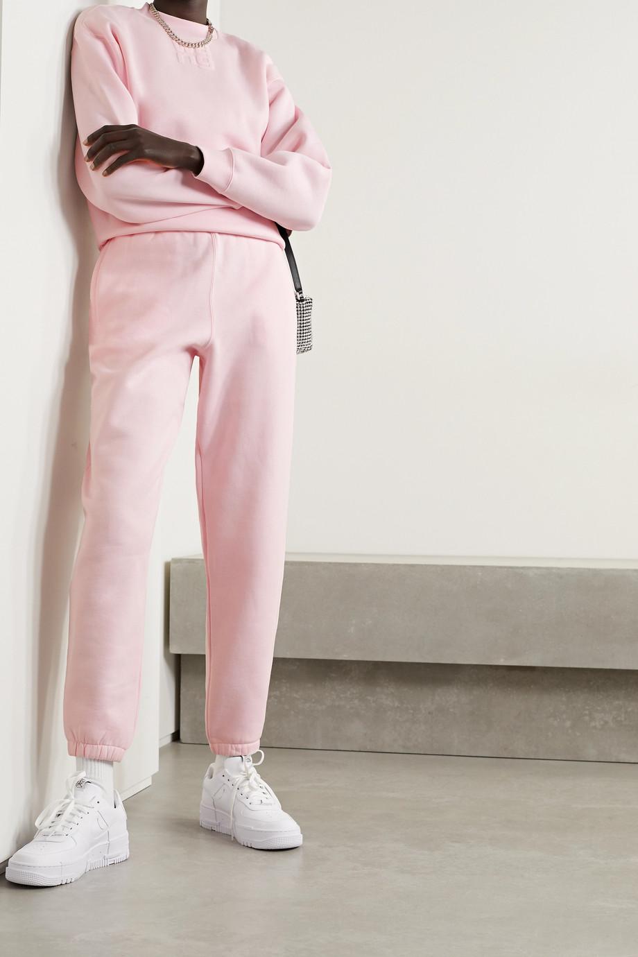 alexanderwang.t Printed cotton-blend jersey track pants