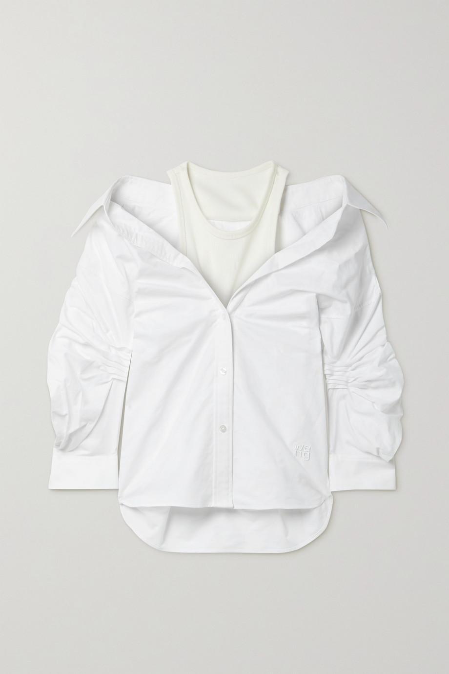 alexanderwang.t 分层式褶饰纯棉牛津纺弹力平纹布衬衫