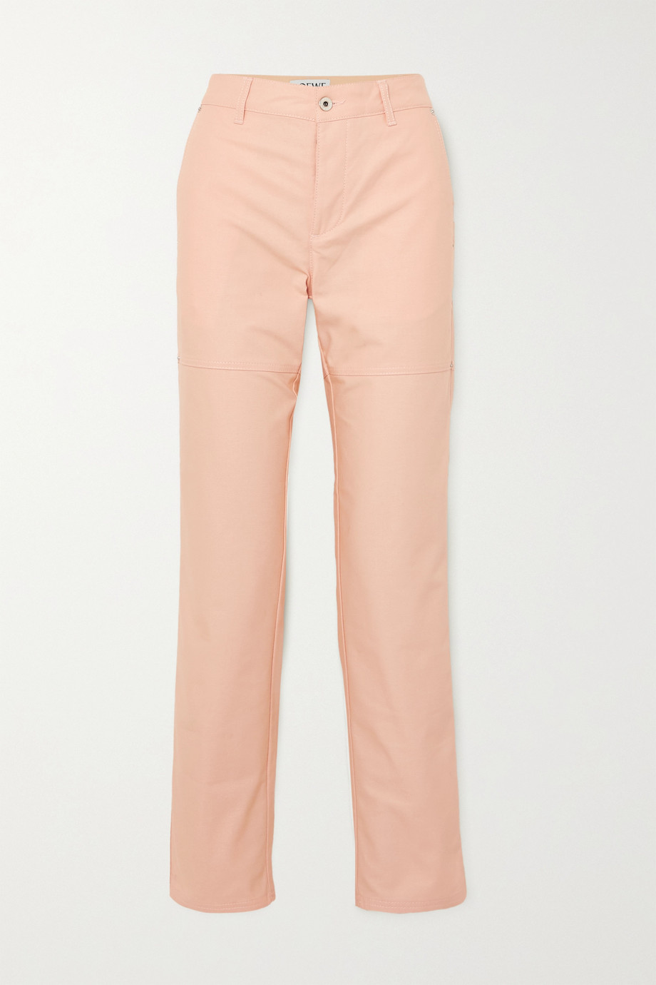 Loewe + Ken Price La Palme printed leather-trimmed high-rise straight-leg jeans