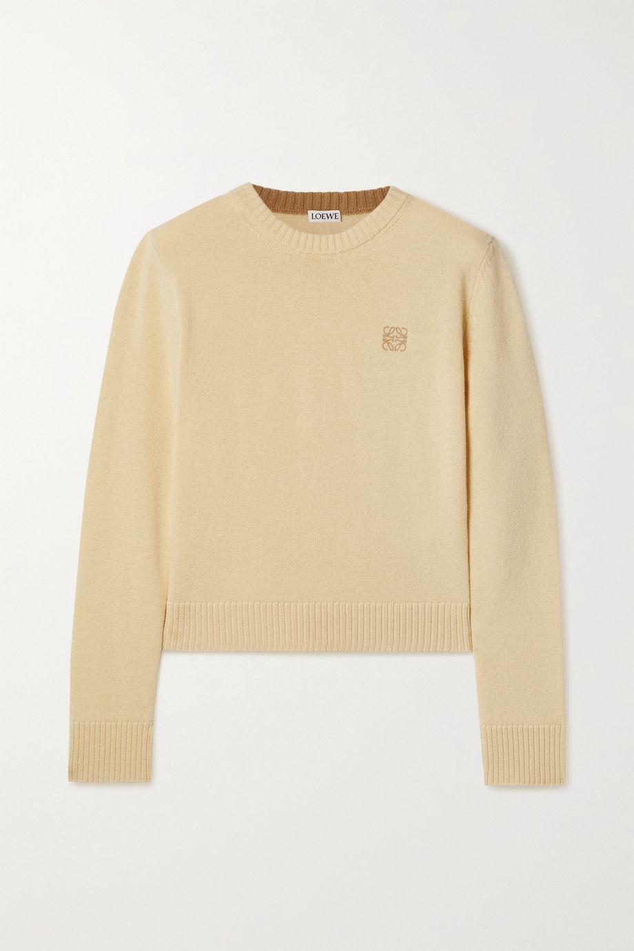 Loewe Pullover aus Wolle mit Stickerei