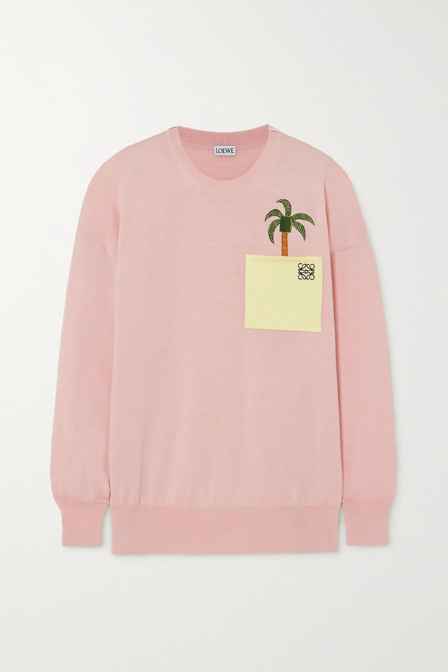 Loewe + Ken Price La Palme embroidered wool-blend sweater