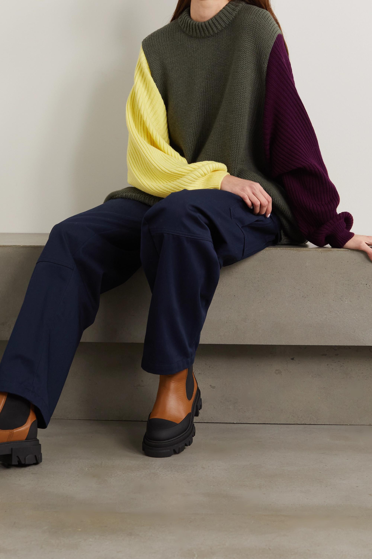 Loewe Oversized color-block wool sweater