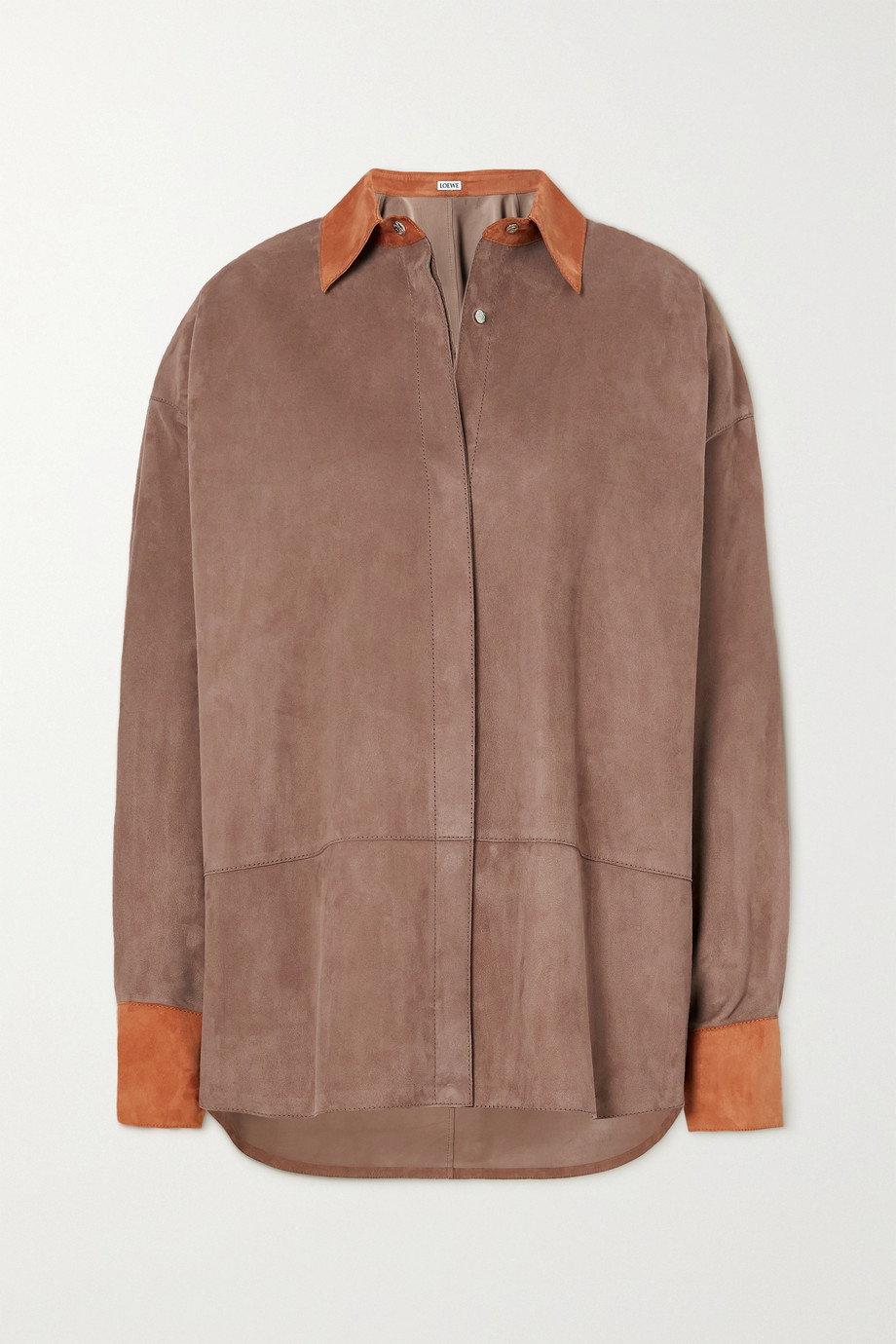 Loewe Oversized two-tone suede shirt
