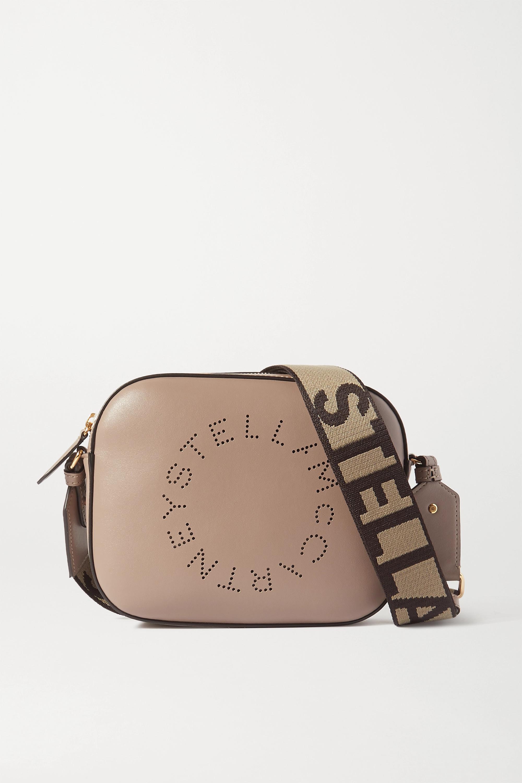 Stella McCartney Perforated vegetarian leather camera bag