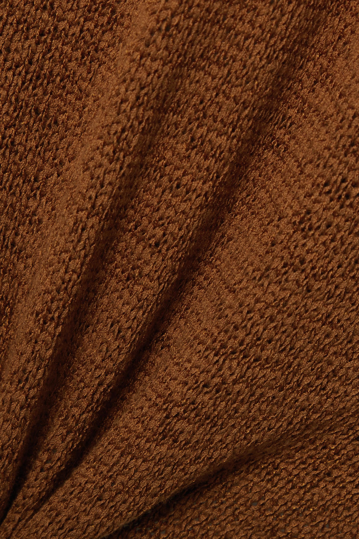 Cult Gaia Cameron Neckholder-Midikleid aus einer Baumwollmischung mit Twist-Detail und Cut-out