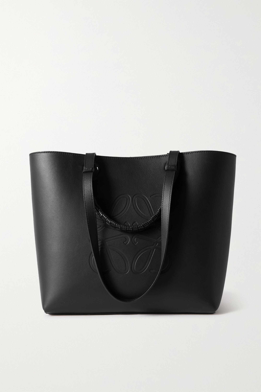Loewe Anagram medium debossed leather tote