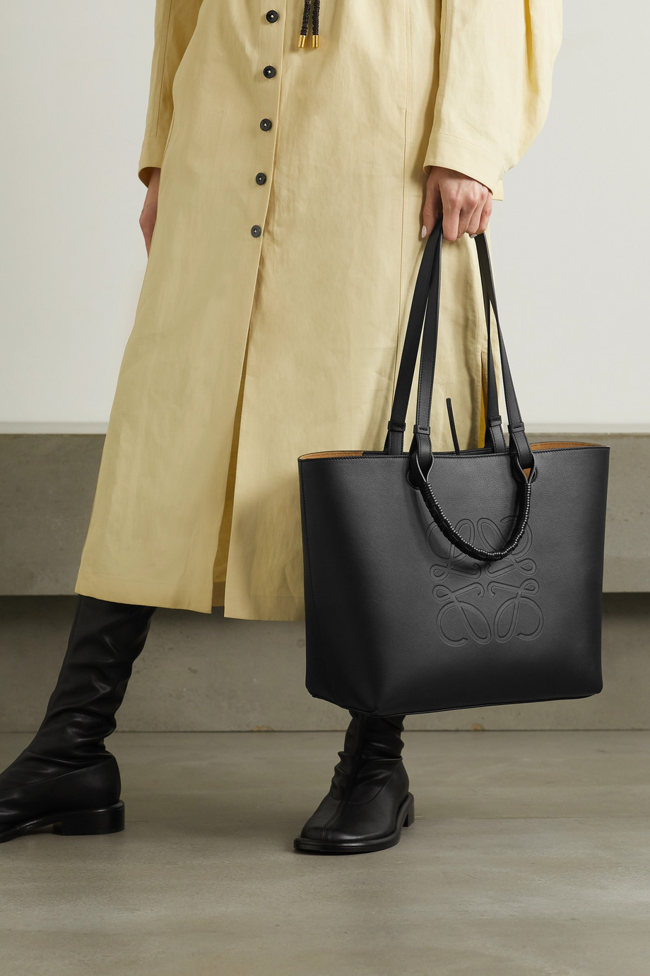 Loewe Anagram medium debossed leather tote