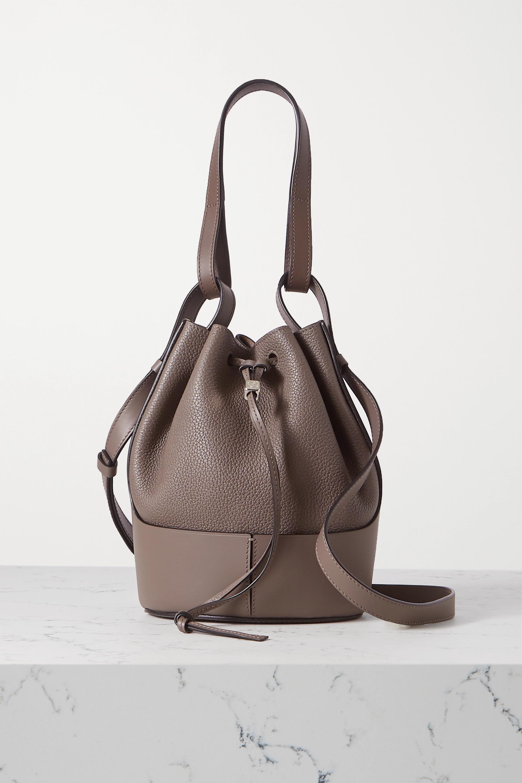 Loewe Balloon small textured-leather bucket bag