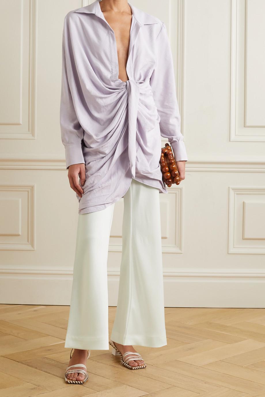 Cult Gaia Kersti woven wide-leg pants